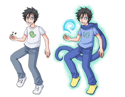 HS LC -John Egbert - normal and god tier by ChibiEdo