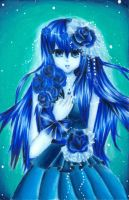 My Blue Rose by nekovi-chan