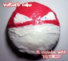 Voltorb Cake by moonymonster
