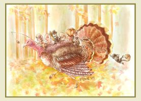 Turkey Ride by Humanimorphism