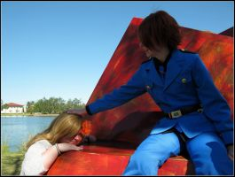 Hetalia Day: Italy pets Hungary by Cosplayer-Inochi
