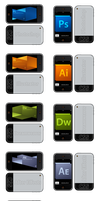 Adobe CS5 Icons Iphone Styled by LeWelsch