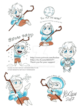 Jack Frost chibis by ks-claw