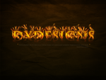 Firetext Wallpaper by DxDesigns