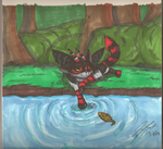 Nacht and the Goldfish by TaintedTamer