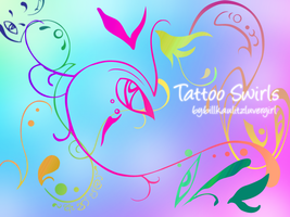 Tattoo Swirls Brushes by billkaulitzluvergirl
