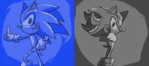 sonic and shadow by supermarioguy