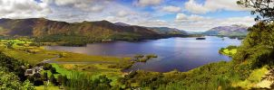Surprise view Derwent Water Lake Panorama by CumbriaCam