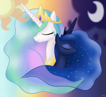 Royal MLP Sisters - Day and Night by Leibi97