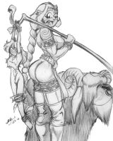 Troll Shepherdess by bar1scorpio