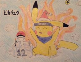 Naruto Pikachu's Birthday! by featherpenguins