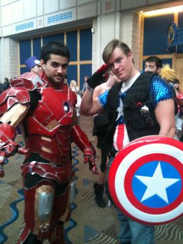 Metrocon 2012: Tony/Steve by RainbowsOfDarkness