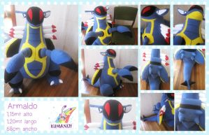 Armaldo pokemon giant plushie