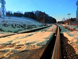 Railroads in winter wonderland by patrickjobst