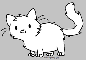 Free Fat Cat Lineart by oliviagirlify