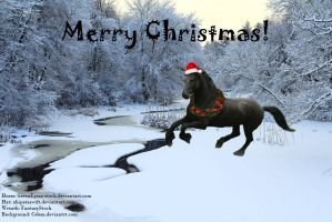 Christmas Manip for Bosky by Gemstar-Graphics