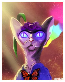 Sphynx Kahlo by ksol-unlimited