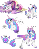 Princess Flurry Heart (Filly and Adult Headcanons) by RhinestoneArts