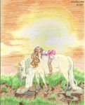 elfe et licorne by BlackBy