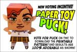 Paper Toy Puck Teaser by ElectricGecko
