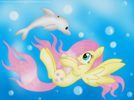 Hey there lil' dolphin! by Paulyena