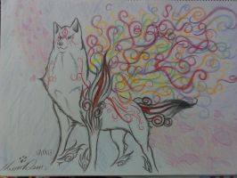 Rainbow Amaterasu by Lugiaisawesome