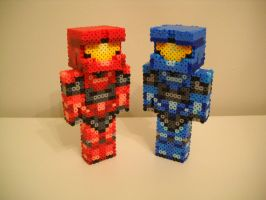 Red Vs. Blue Minecraft by RetroNinNin