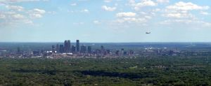 Minneapolis Skyline and a Small Plane by Brittanykald