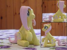 Fluttershy sculpture by RetardedDogProductns
