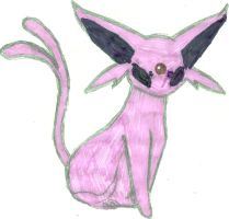 Espeon Coloured by CoolMan666