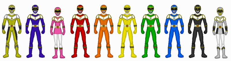 Comission - Power Rangers Planets by Kaiserf11