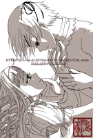 Ciel and  Elizabeth by e--l--m--o