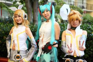 anime la vocaloids rin miku len 2 by AccessAccess