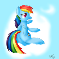 Rainbow Dash - Good morning. by extreme-sonic