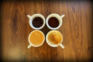 Four stages of coffee by Andrafoto