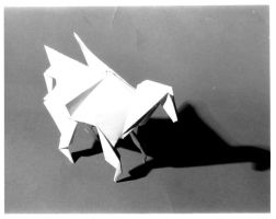 Origami Winged Horse by JubbenRobot