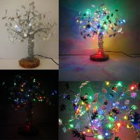 Wire tree Sculpture with multi-colored LED's by etodorut