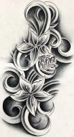 Custom flowers tattoo design by WillemXSM