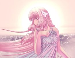 sunset Chobits by MeanNganGuy
