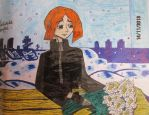 Narissova puts a bouquet of flowers on the coffin by Dash-Ing-Nerro