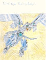 Blue-Eyes Shining Dragon by King-Hauken