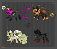 Halloween Pony Adopts // closed by so-love