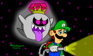 Luigi and King Boo by MarioSimpson1