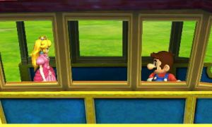 Mario and Peach on the train by alvarobmk123