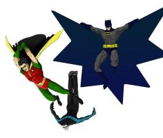 Batman, Robin, Nightwing by peetietang