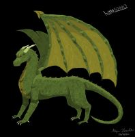 .:Tablet Practice:. Green Dragon by Lyss504813