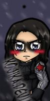 Commission: Winter Soldier Bookmark by kojika