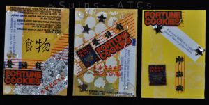 ATC - Fortune Cookies -set- by Suins--ATCs