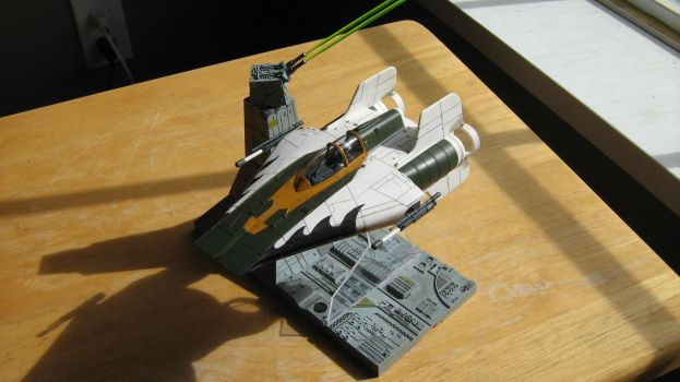 Bandai A-wing, Blackfire Leader by Defibulator