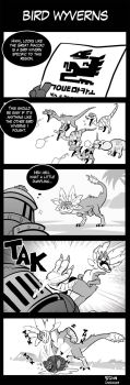 MH Comic - Bird Wyverns by macawnivore